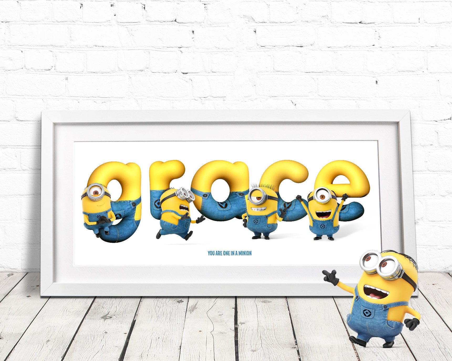 personalised minion name minion gift minion name art nursery