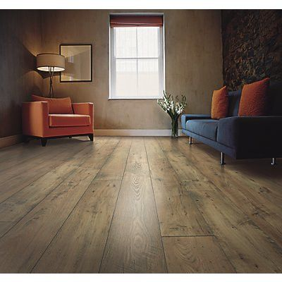 """Mohawk Flooring Rugged Vision 8"""" x 54"""" x 11.93mm Chestnut Laminate in Natural"""