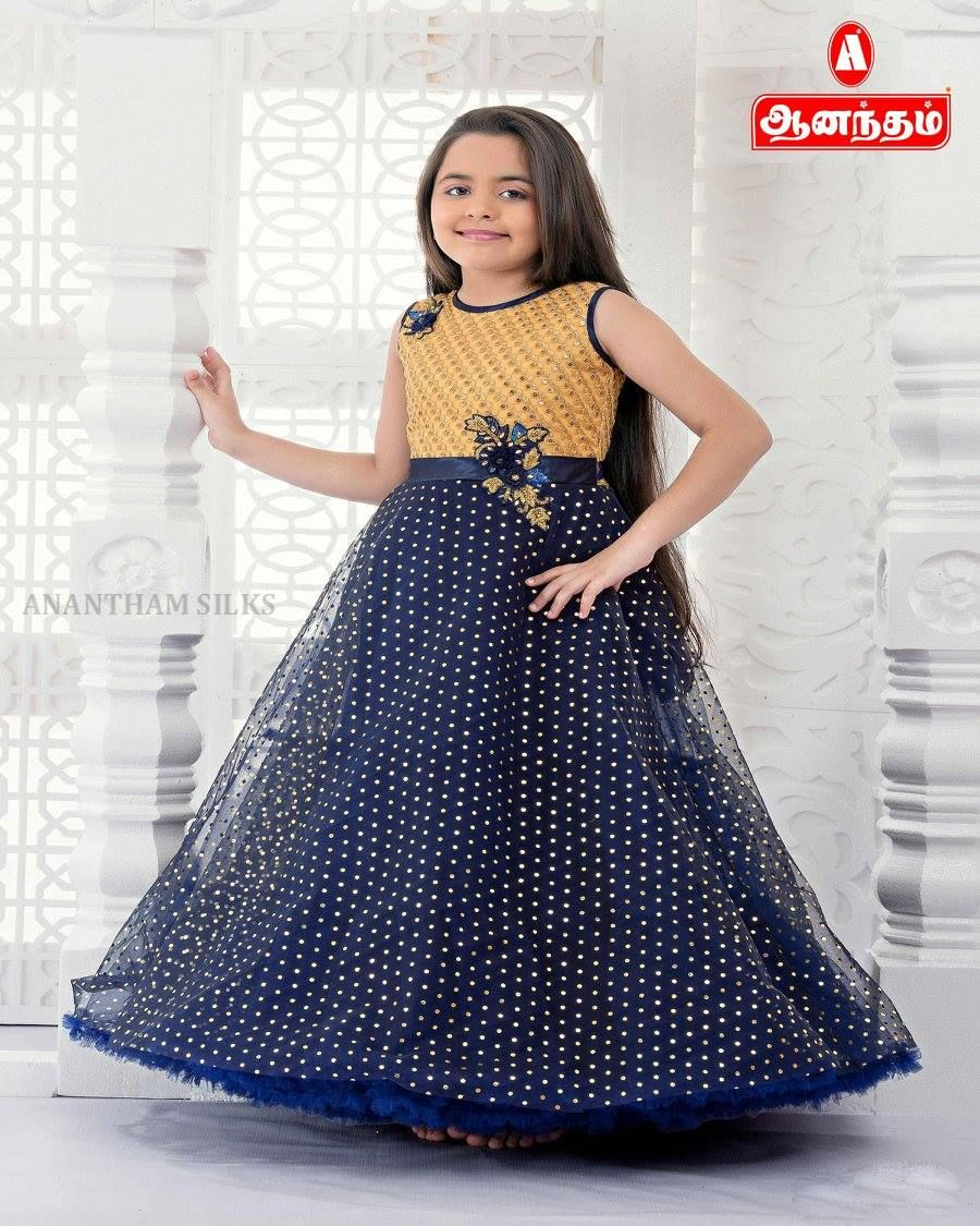 edacc6b3ed5 Party Wear Fancy Long Maxi Dress for Girl s Only   Anantham Silks ...