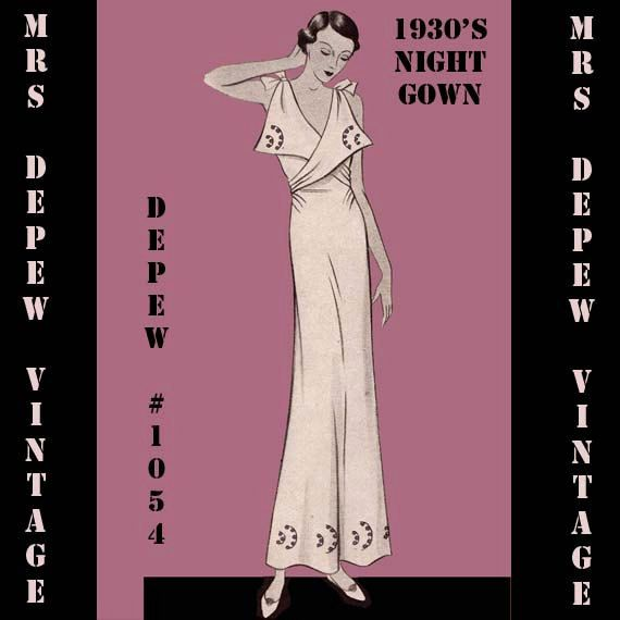 Vintage Sewing Pattern 1930 S French Night Gown Or Slip In Any