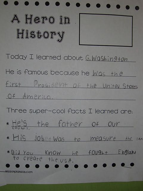 Here is a sample of their expository writing.  We did the top together and they had to come up with three facts on their own based on our readings and our notes from the lesson.