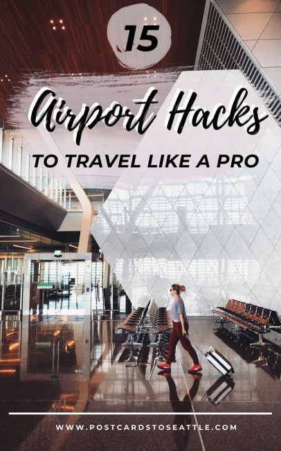 Traveling can be stressful, but there are ways to make it easier. These 15 airport hacks will help you travel like a pro! airport tips | tips for flying | packing tips | travel tips