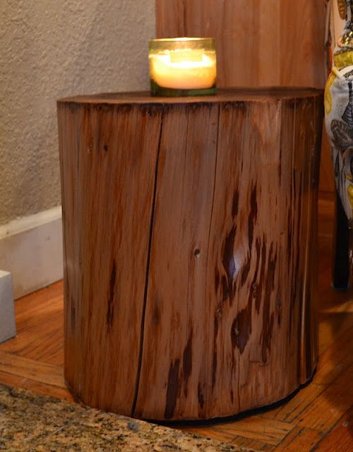 Restyle.Restore.Rejoice: DIY Tree Stump Side Table