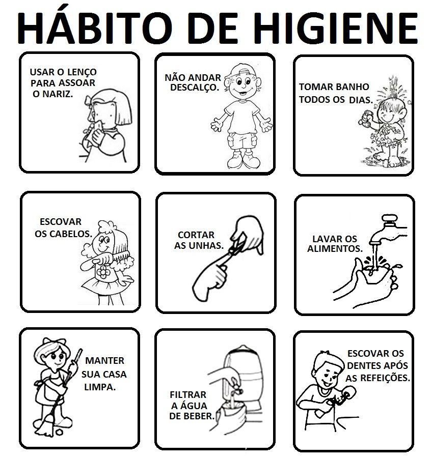 Habitos De Higiene Atividades Parte 1 Higiene E Saude