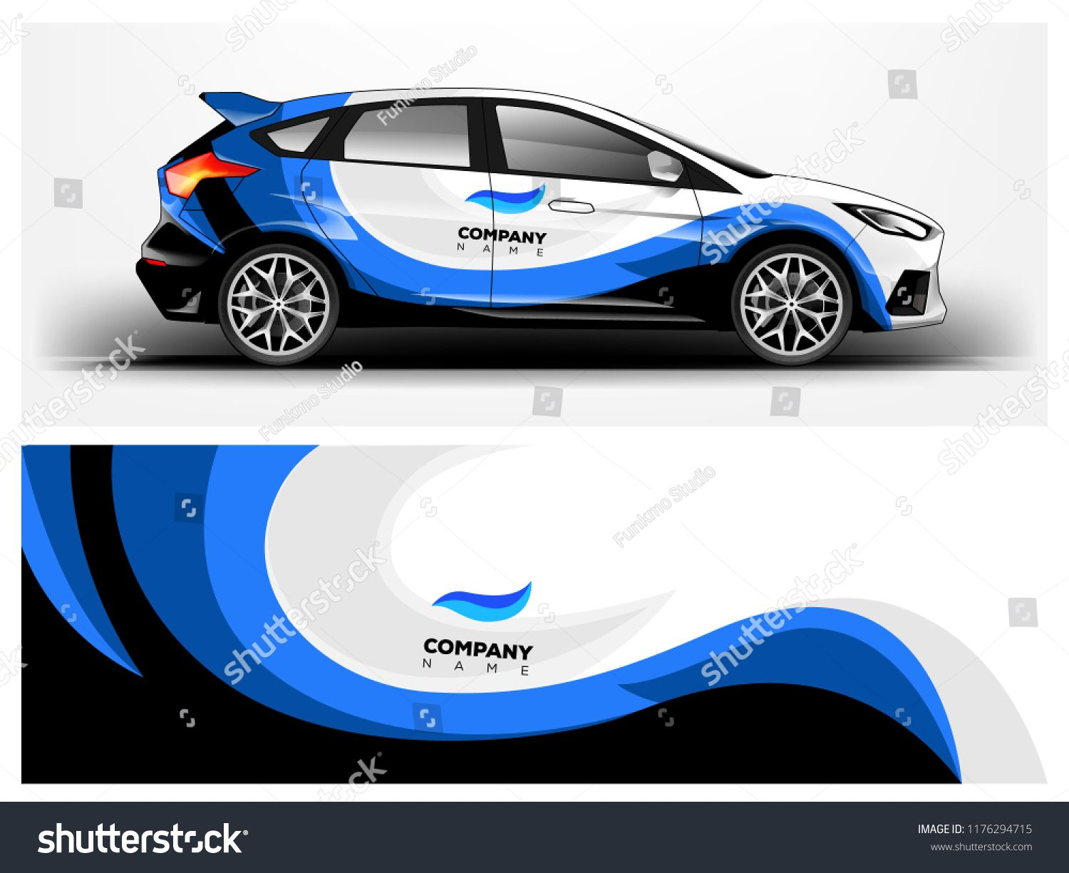 Racing car wrap abstract strip for company car wrap sticker and decal vector eps 10 format abstractstripcompanyracing