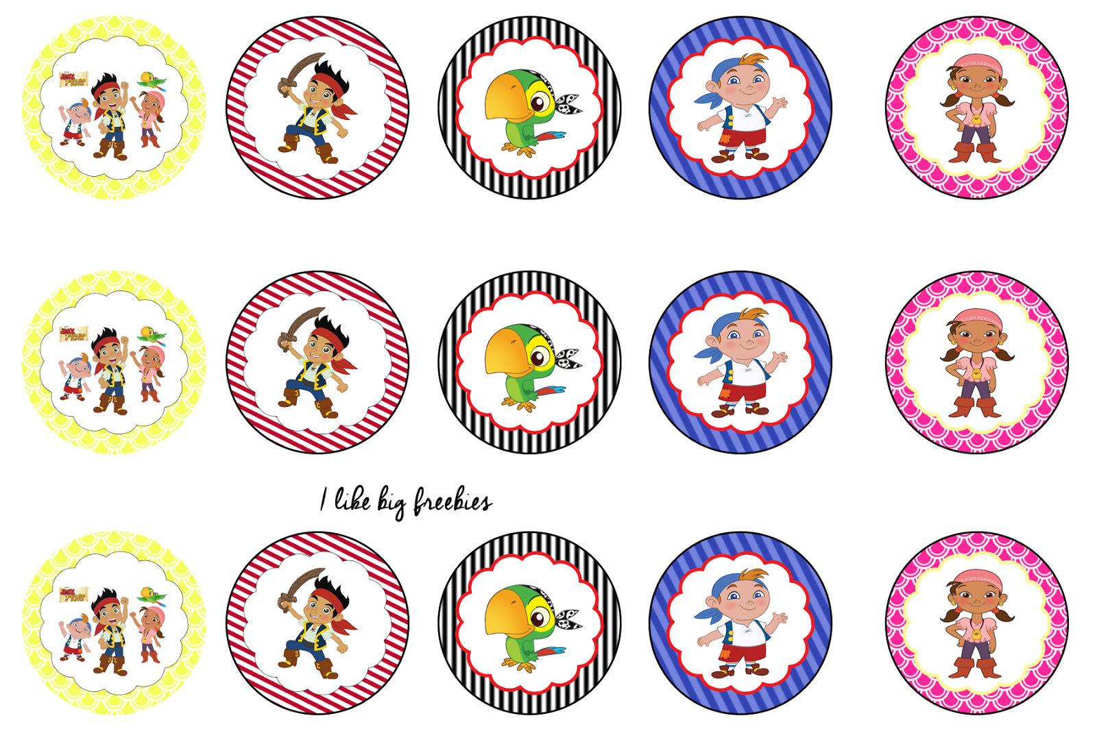 Jake and the Neverland Pirates bottlecap image sheet | Birthdays ...