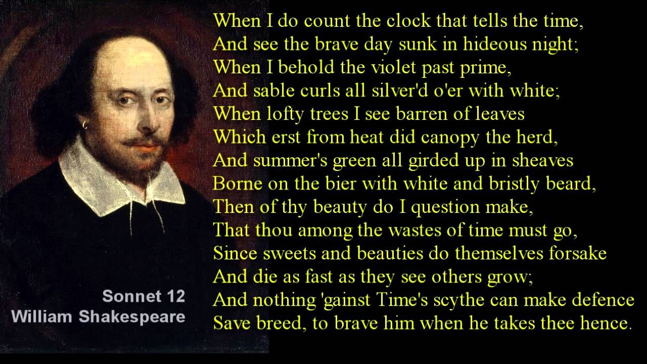 When I Do Count The Clock That Tell Time Sonnet 12 William Shakespeare With Text Wise Word Quote How To Memorize Things 27 Analysis