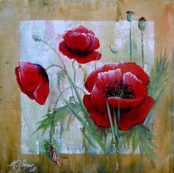 Acrylmalerei Blumen Leinwandkunst Zazzle At