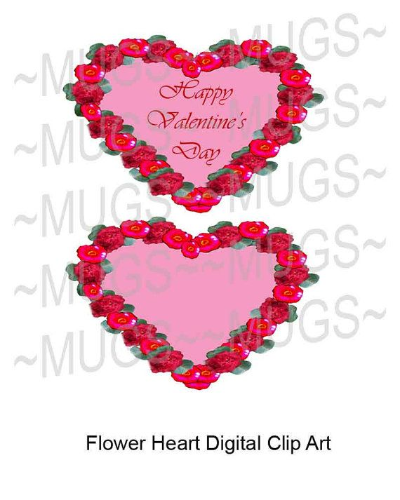 Hearts & Flowers by MelsUniqueGraphics on Etsy