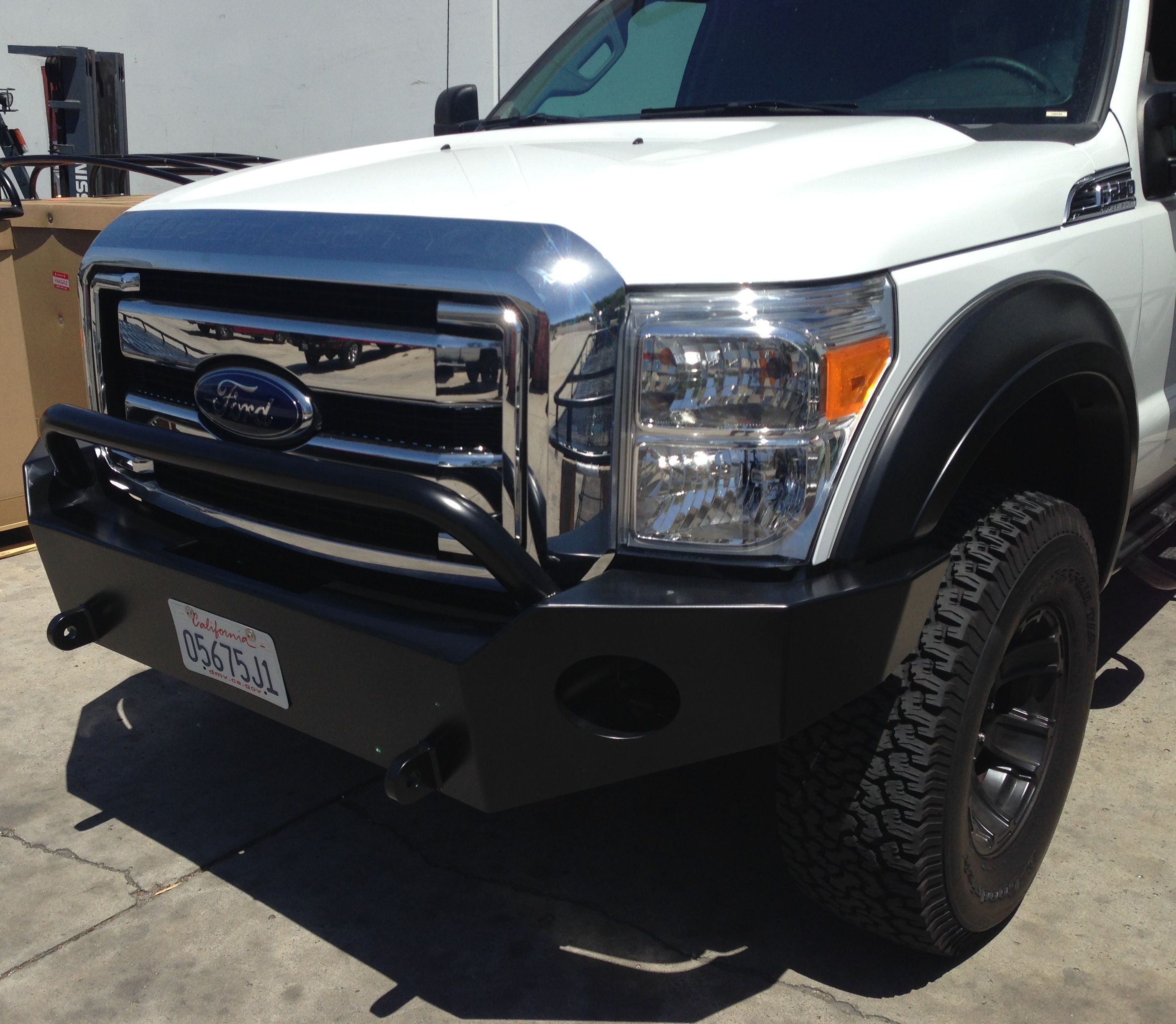 Aluminess slimline version of our aluminum ford superduty front bumper