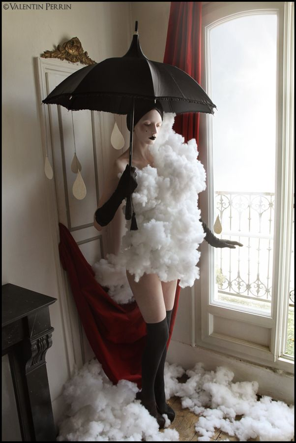 A simple rain/storm themed costume. Or even Glow Cloud ...