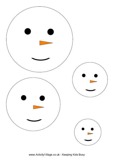 Snowman face template Preschool-winter Pinterest Face - snowman template