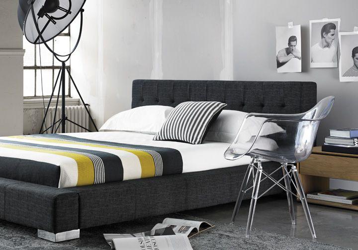 Lit Fresca Tissu Anthracite Fresca Bed Anthracite Fabric Furniture Design Home Home Decor Bedroom Expressions