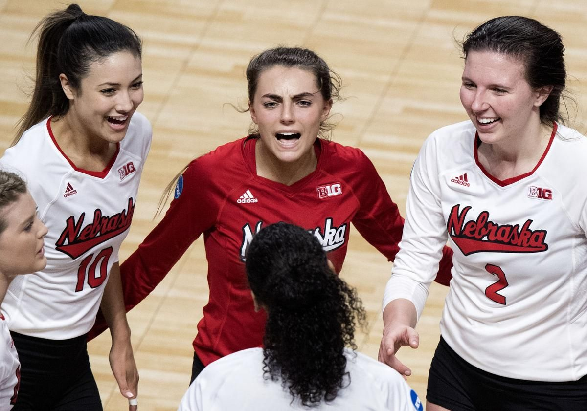 Watch Cook Addresses Huskers After Team Secures Fourth Straight Final Four Berth Volleyball Inspiration Volleyball Pictures Final Four
