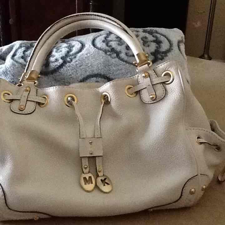 MK  Authentic cream color bag - Mercari: Anyone can buy & sell