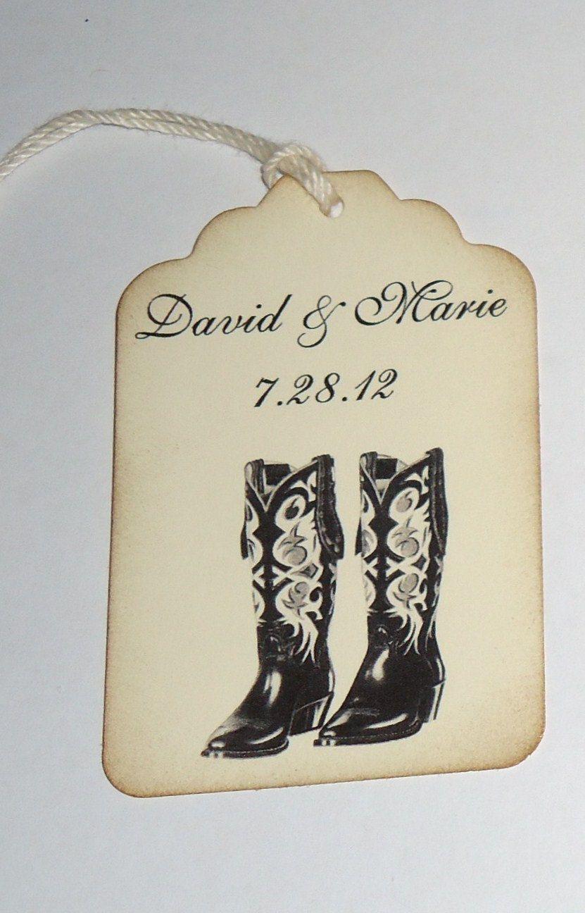 Cowboy Boots Wedding Wish Tag | Our Wedding | Wedding ...