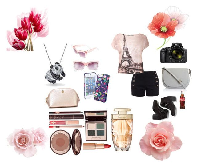 """""""I love Pink <3"""" by mimsy-chan ❤ liked on Polyvore featuring Chloé, Steve Madden, Bling Jewelry, Keds, Vera Bradley, Charlotte Tilbury, Tory Burch and Nikon"""