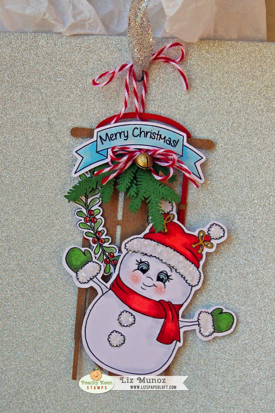 PKS July Release Blog Hop ~ Merry Christmas! Peachy Keen Stamps Tag
