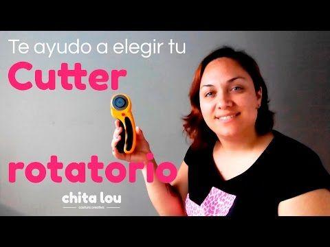 Cómo cortar tela con cutter rotatorio. Curso online Aprende a coser a máquina - YouTube