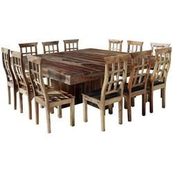Dining Room Furniture Dallas Dallas Ranch Large Square Dining Room Table And Chair Set For 12