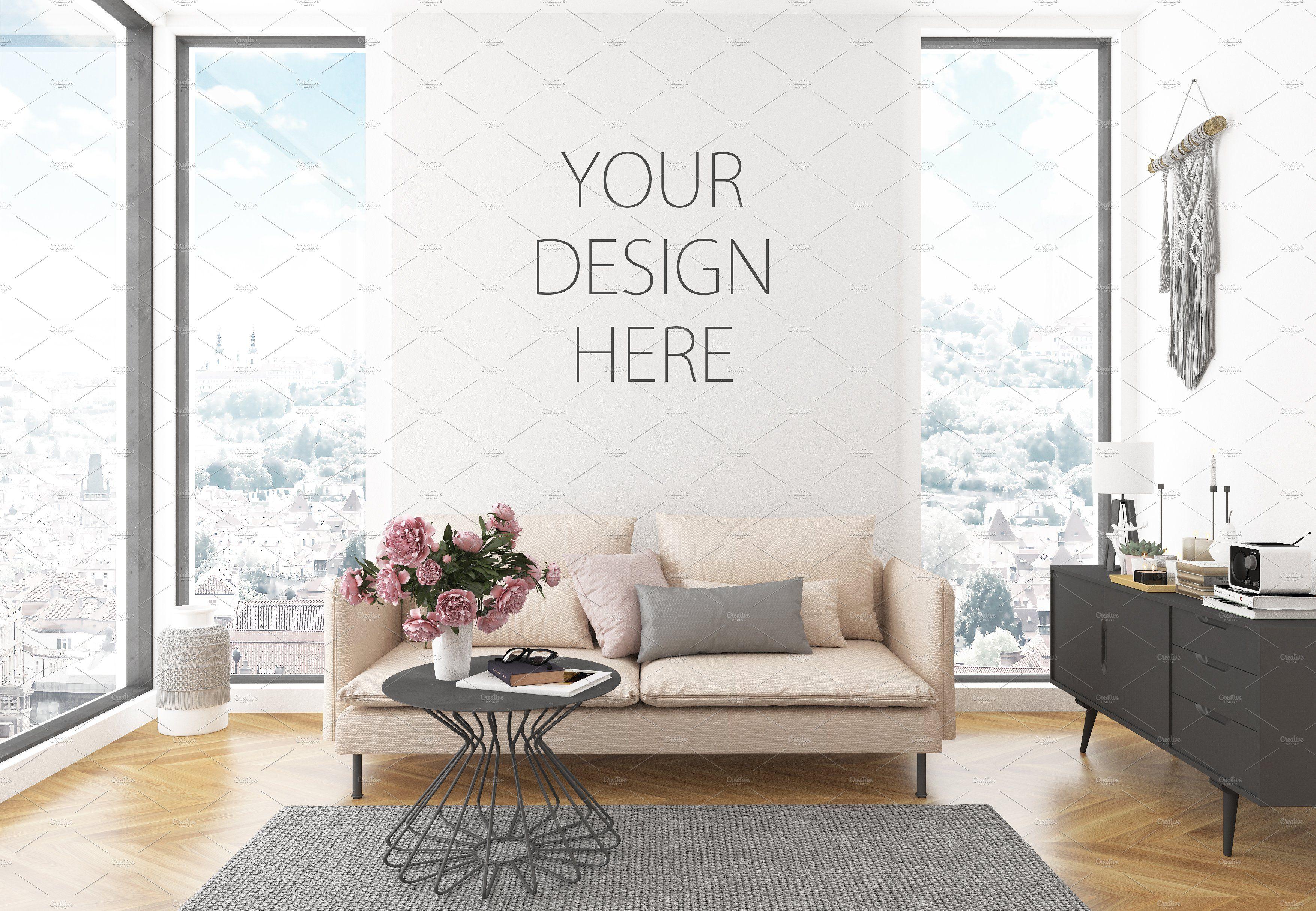 Interior Mockup Artwork Background Design Mockup Free Psd Mockup Template Mockup Free Psd