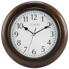10 Solid Wood Analog Wall Clock Clock Wall Clock Wood Wall Clock