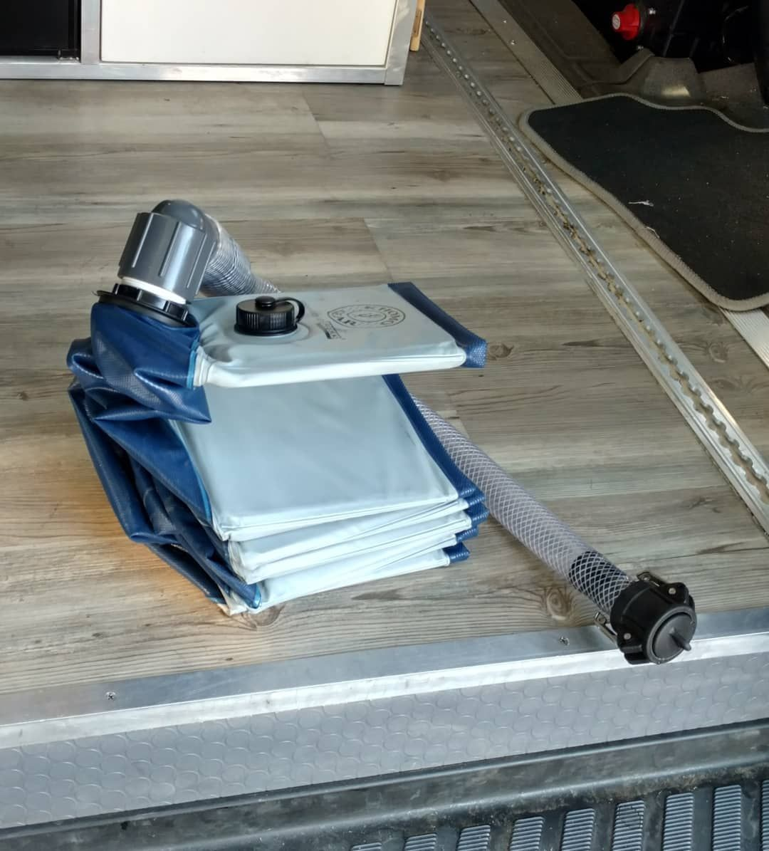 Diy portable indoor van shower collapsible space