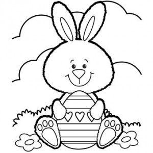 Free Printable Easter Bunny Coloring Page Free Easter Coloring