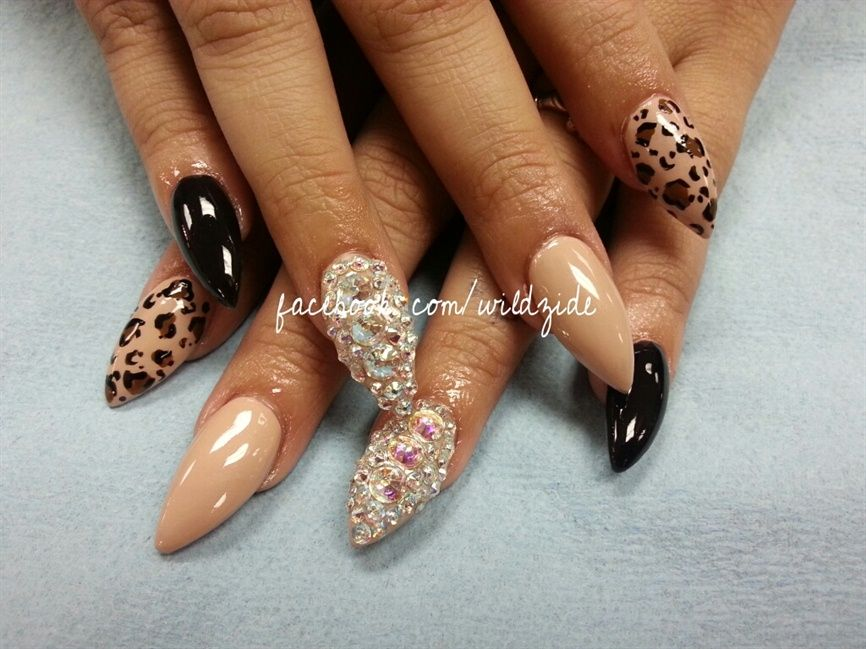 blinged out stilleto - Nail Art Gallery | Hair, nails ...