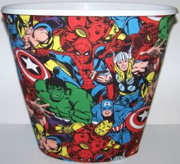Bathroom Wastecan Marvel Comic Room Superhero Bathroom