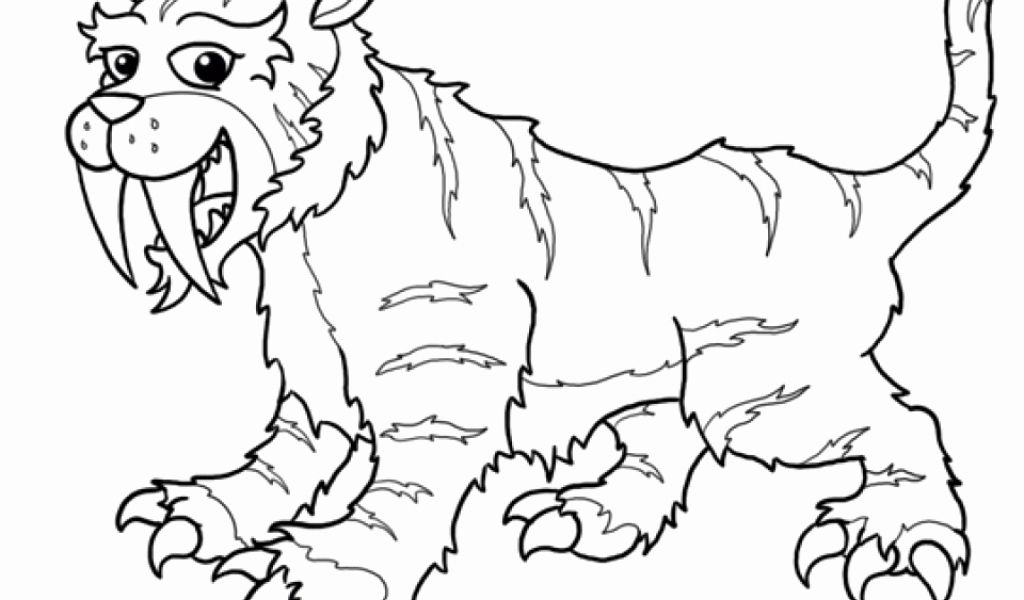Saber Tooth Tiger Coloring Page New Get This Saber Tooth Tiger Coloring Pages To Print Shark Coloring Pages Cute Coloring Pages Paw Patrol Coloring
