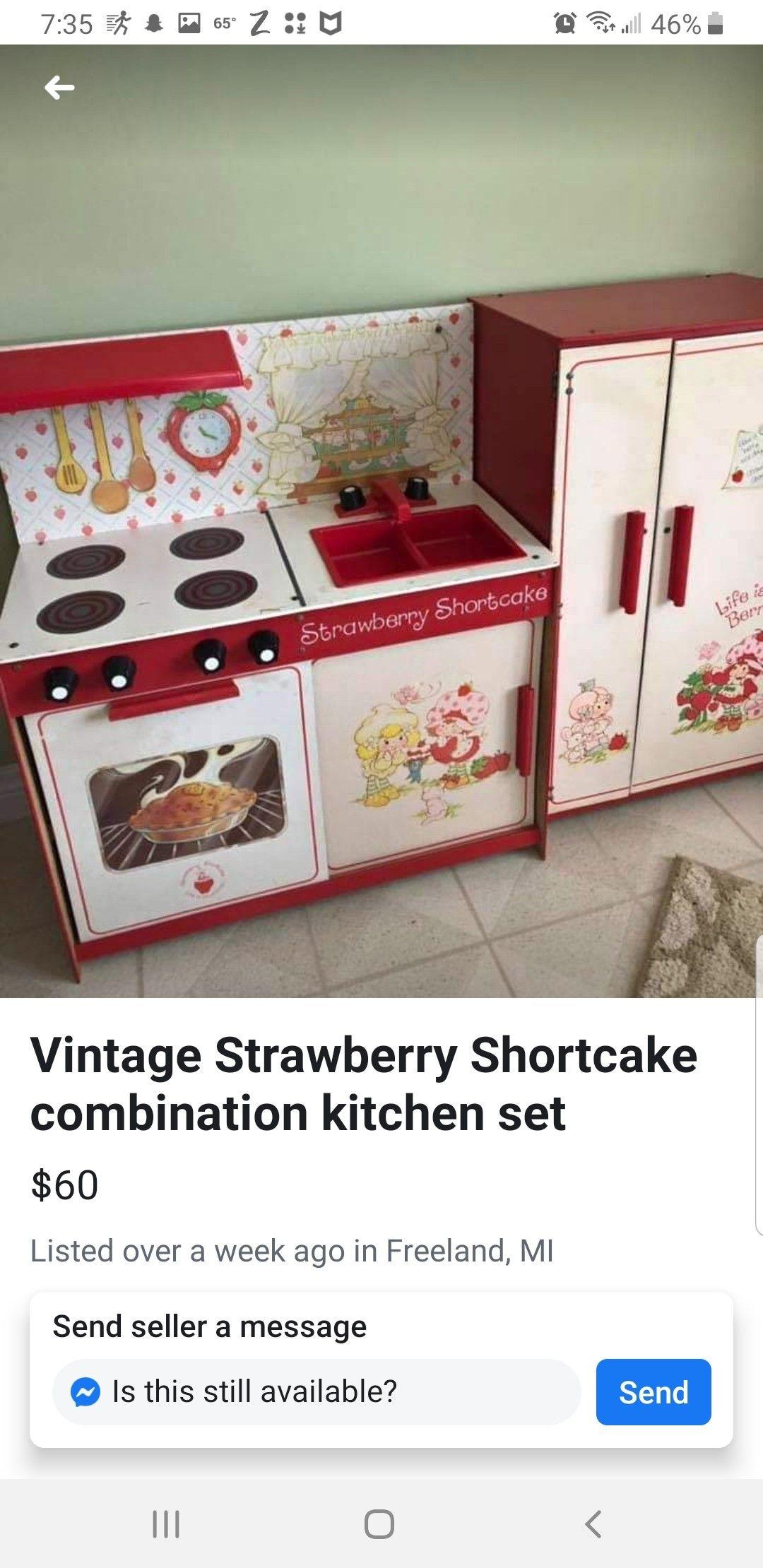Pin By Jennifer Knapp On I Want Vintage Strawberry Shortcake Kitchen Sets