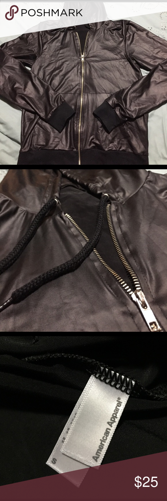 MENS THIN FAUX LEATHER JACKET Faux leather jackets, Faux