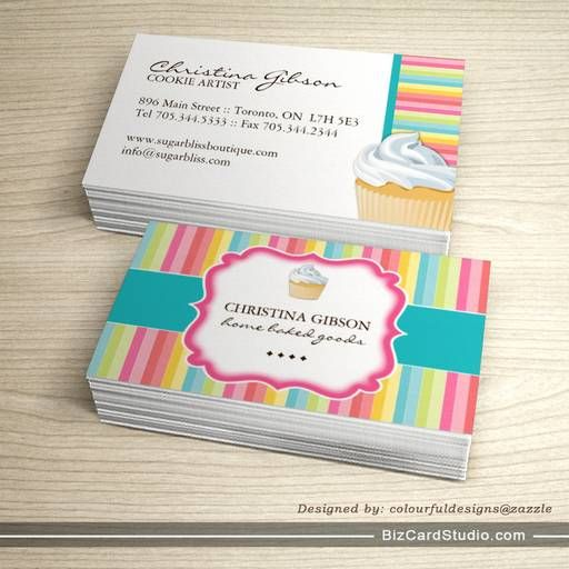 Whimsical cupcake business cards bakery business cards pinterest whimsical cupcake business cards cheaphphosting Image collections