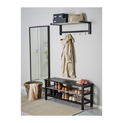 tjusig bench with shoe storage black bench storage and black. Black Bedroom Furniture Sets. Home Design Ideas