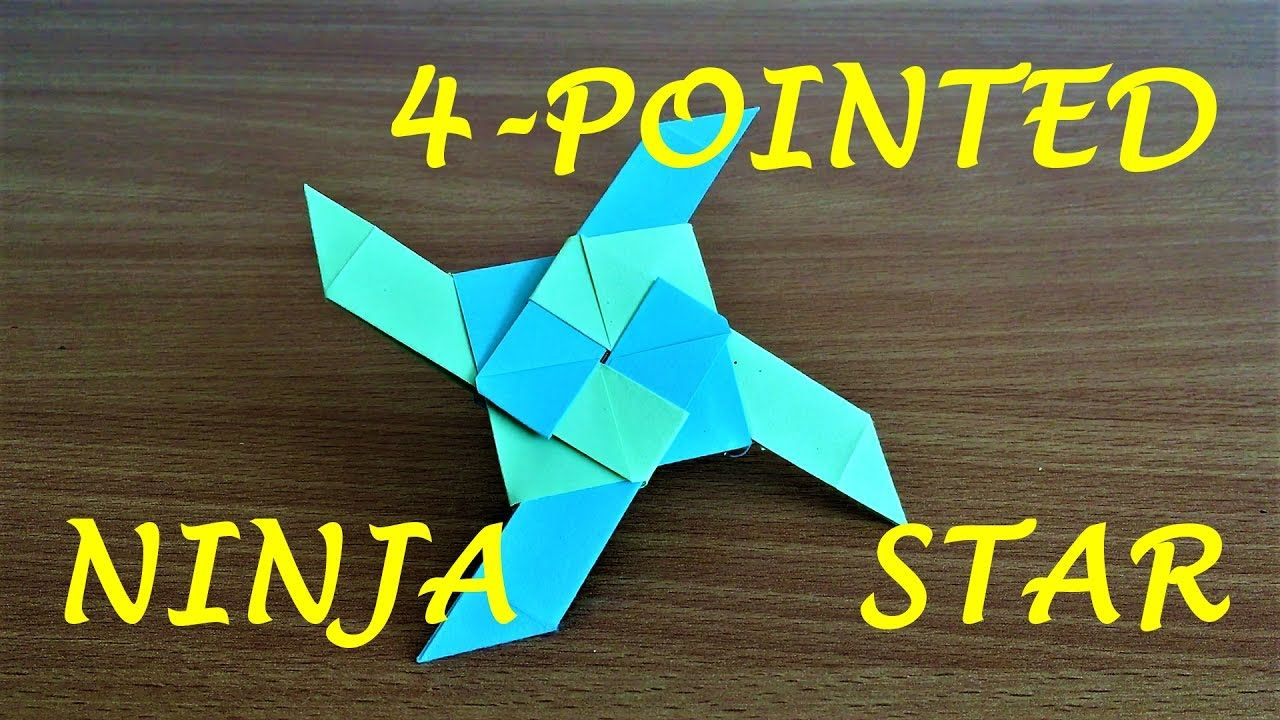 how to make a transforming ninja star with sticky notes