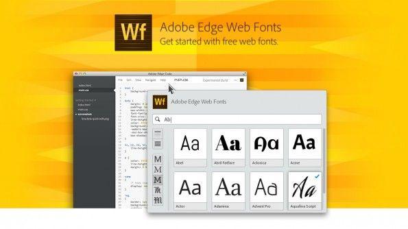 Das ist ein Hammer! Adobe öffnet seine Schriften-Bibliothek – jetzt gibt's neben den Google Webfonts auch von Adobe über 500 kostenlose Webfonts für Webdesigner!    Adobe Edge Web Fonts Featured