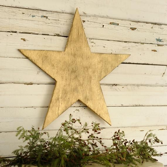 Wooden Star Large Christmas