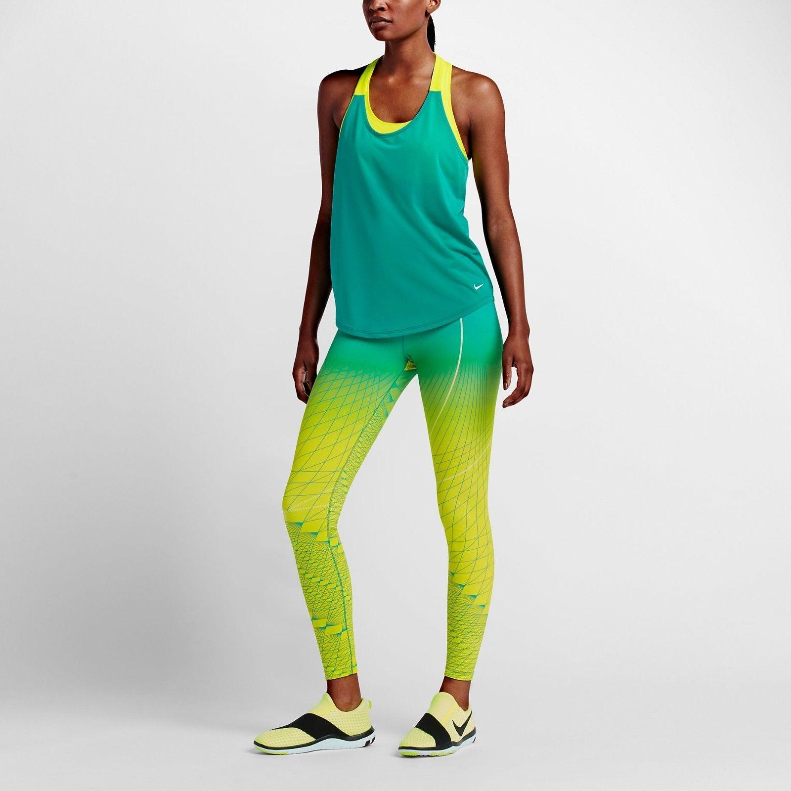 742dccff7c44d7 Nike Power Legendary Printed Mid Rise Training Tights 814287-702 Womens  Medium