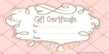 Free Printable And Editable Gift Certificate Templates  Avon
