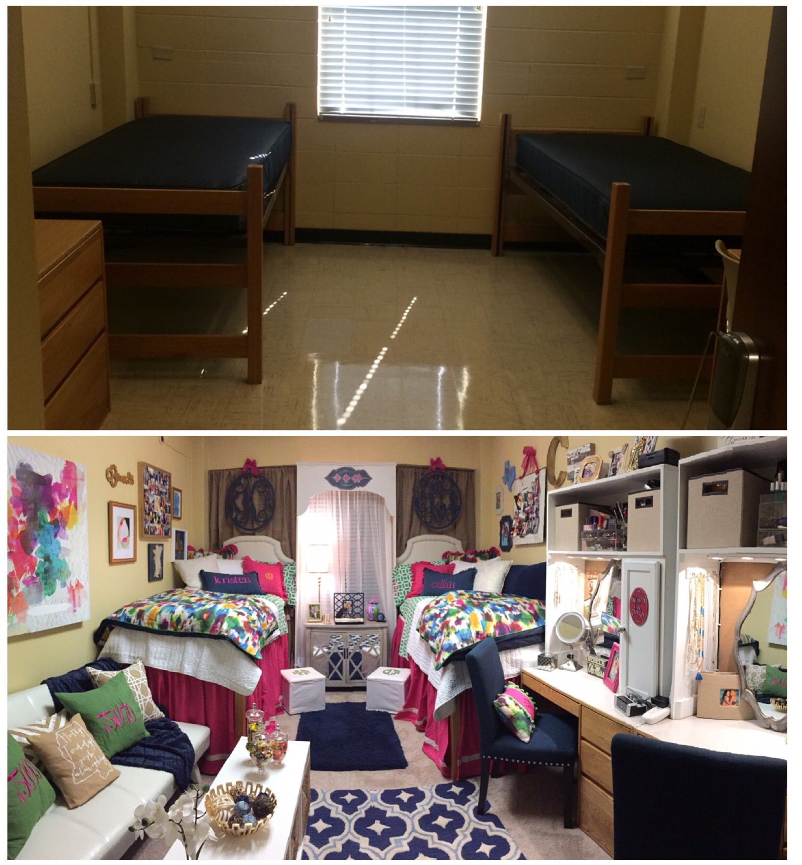 Ole Miss Martin Dorm Before & After Her Dorm Room
