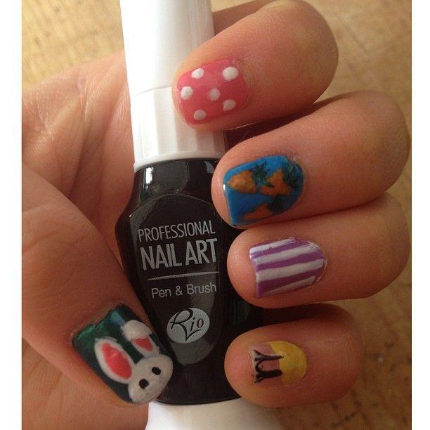 Photo By Hannahwtmf Easter Nail Art Using Rio Nail Art Pens Rio
