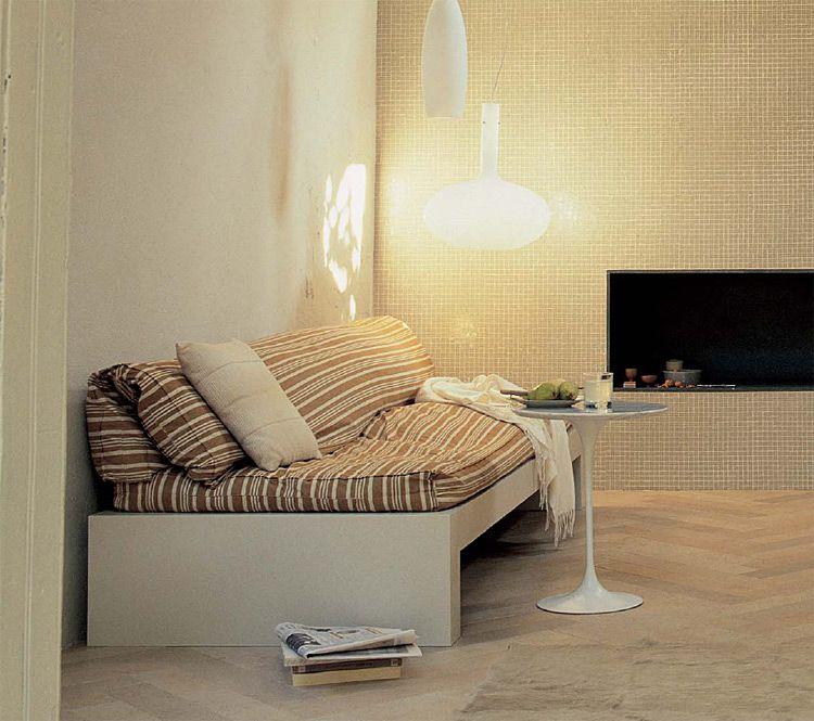 Casablend beige ceramic floor tiles in Herringbone Pattern style ...