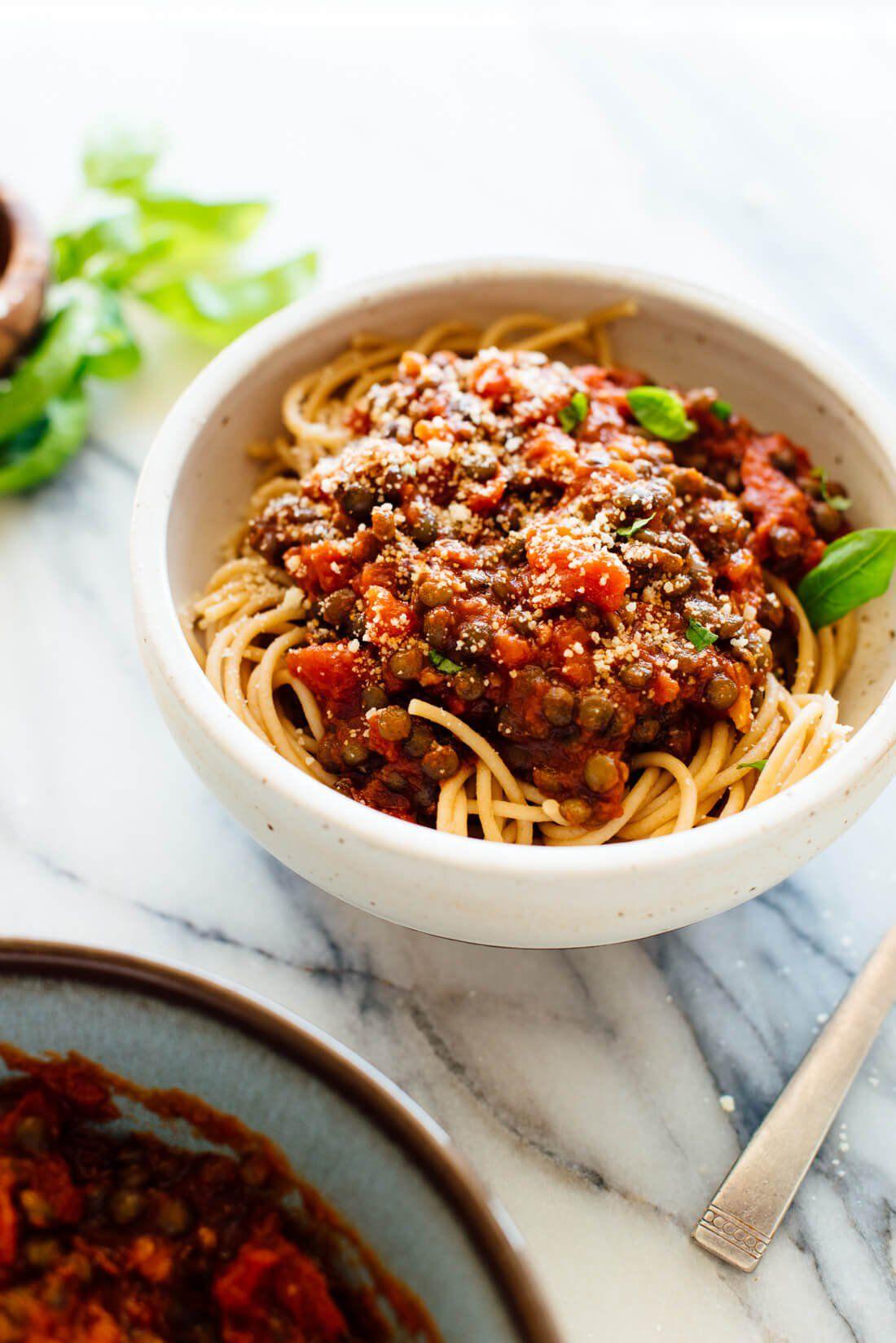 Hearty Spaghetti With Lentils Marinara