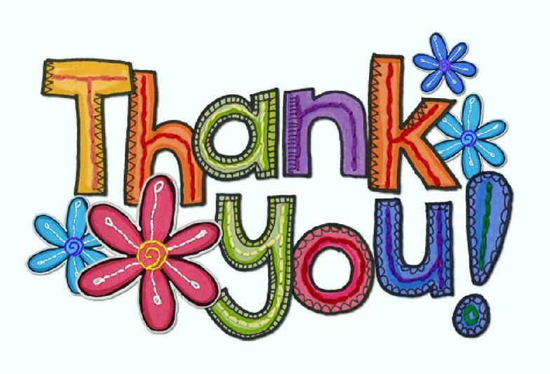 thank you clip art flowers use these free images for your websites rh pinterest com Thanks a Bunch Clip Art Thanks a Bunch Clip Art