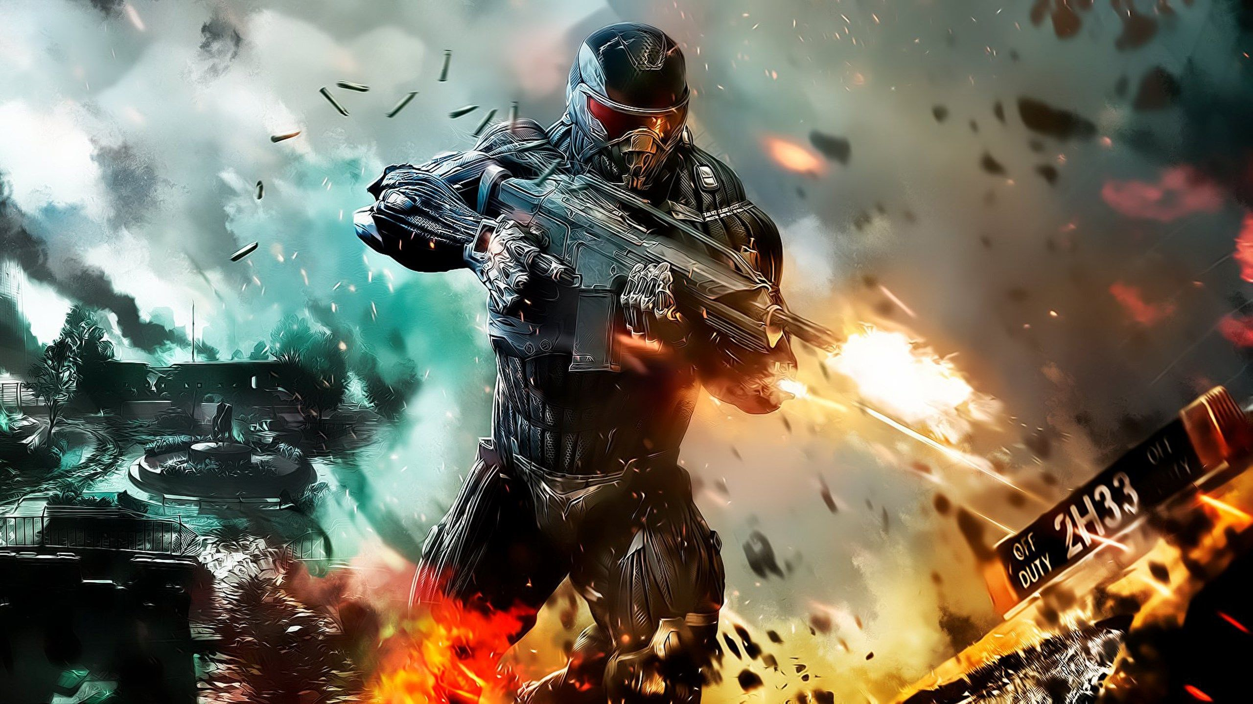 2560x1440 Free Desktop Pictures Crysis 2 Action Wallpaper