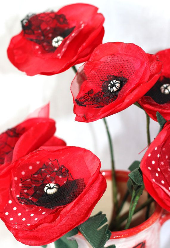 Fabric Poppy Tutorial Pdf Learn To Make Your Own Fabric Flowers Basteln Blumen Mohnblume