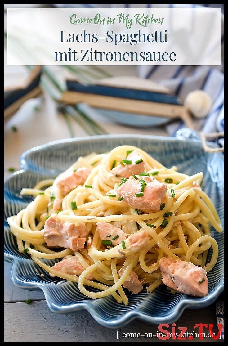 rezept schnelle lachsnudeln kochen lachsspaghetti