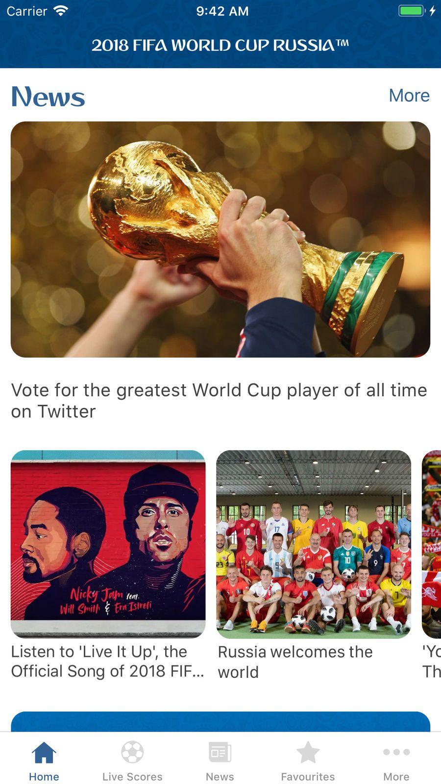 2018 FIFA World Cup Russia鈩?20EntertainmentSportsapps