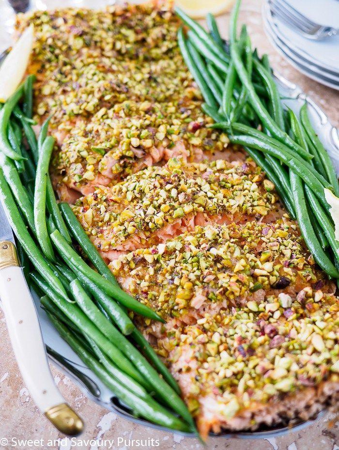 Pistachio Crusted Salmon Recipe Easy Dinner Party Recipes Dinner Party Recipes Salmon Recipes